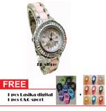 Review Pada Tetonis T960M Jam Tangan Fashion Wanita Ceramik Stainlesstell Pink