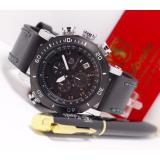 Jual Tetonis Ts1222 Quartz Analog Movement Chronograph Leather Strap Black Branded