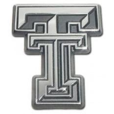 Texas Tech Universitas Merah Raiders Premium Krom Disepuh Logam NCAA College Emblem Sepeda Motor-Internasional