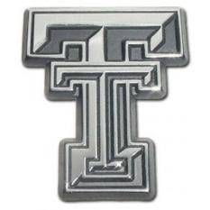 Texas Tech University Red Raiders Premium Chrome Disepuh Logam NCAA College Car Emblem Sepeda Motor-Intl