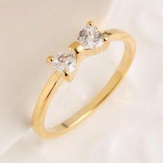 Jual Tf New Style Fashion Korean Sweet Bowknot Ring (Size:8) Rose Gold Intl Oem Original