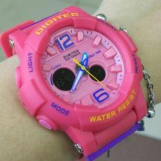 Promo Digitec Ory Fitur Dualtime Strap Rubber Jam Tangan Wanita Full Pink Modelterbaru Di Dki Jakarta