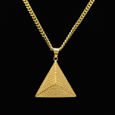 The hip-hop titanium steel triangle Egyptian king's pyramid mourns to fall to a men and women best-selling rapper necklace - intl