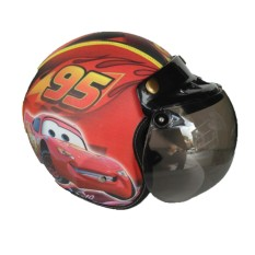 The Musketeer - Helm Anak Bogo Usia 4-7 Tahun Cars Merah