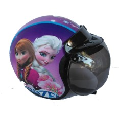 The Musketeer - Helm Anak Bogo Usia 4-7 Tahun Frozen Ungu