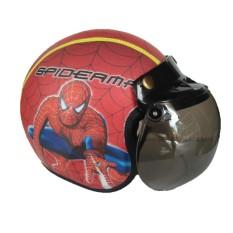 The Musketeer - Helm Anak Bogo Usia 4-7 Tahun Spiderman Merah