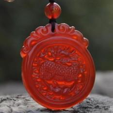 Di Es Alami Tumbuh Merah Batu Akik Qi Lin Berkabung untuk Jatuh Ke Crystal Jade Sui untuk Menggantung Jatuh Ke kristal Jatuh Ke Kalung Pria dan Wanita Gaya Dekorasi Merekrut Kekayaan untuk Membuka- internasional