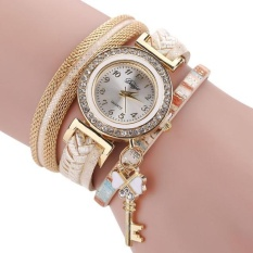 Bergaya Ramping dan Chic Knit Bracelet Watch Ladies Dekoratif-Intl