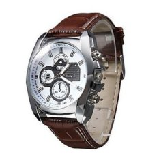 Jual Beli Online Thinch Six Stitches Date Show Men S Business Quartz Watch Brown