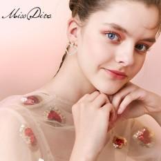 Ini Lovely Hollow Giant Heart Anting Panjang Earrings Korea Temperamen Wanita Imitasi Mutiara Pendant Retro Earrings-Intl