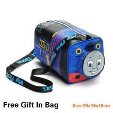 Dapatkan Segera Thomas Train ≤ 5 Tahun Anak Anak Canvas Sch**l Travel Shoulder Bags Warna Biru Intl