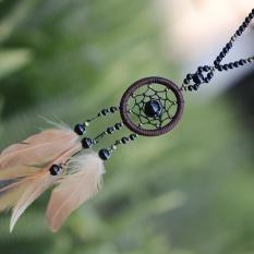 Ribuan Rakyat Kuno Gaya Rotan Bohemia Handmade Sweater Rantai Dreamcatcher Feather Long Kalung Aksesoris Perhiasan untuk Wanita-Intl