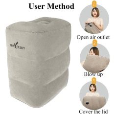 Spesifikasi Three Layers Inflatable Travel Footrest Leg Rest Travel Pillow Air Cushion Rest Pillow Intl Oem