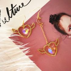 Toko Tianshichibang Korea Fashion Style Hati Persik Berbentuk Bulan Anting Jepit Tanpa Tindik Anting Murah Tiongkok