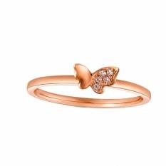 Tiaria 18K Tiaria Half Butterfly Ring Perhiasan Emas Cincin Wanita