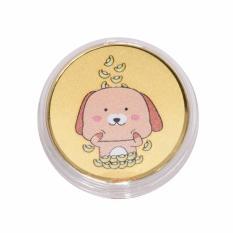 Tiaria 24K Dog Money Rain Coin Logam Mulia Emas Murni 24 Karat 0.2 gram