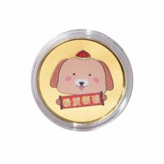 Tiaria 24K Happy New Year Dog Coin Logam Mulia Emas Murni 24 Karat 0.2 gram