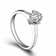 Gratis upgrade Topaz Tiaria 9K Always Perhiasan Cincin Emas Dan White Gold