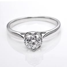 Harga Tiaria Dhtxdfj007 Perhiasan Cincin Emas Putih Dan Berlian White Gold 18K Tiaria Baru