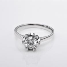 Tiaria DHTXHJZ016 Perhiasan Cincin Emas Putih Dan Berlian White Gold 18K