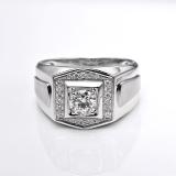 Kualitas Tiaria Dhtxhjz029 Perhiasan Cincin Emas Putih Dan Berlian White Gold 18K Tiaria