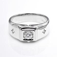 Beli Barang Tiaria Dhtxhjz063 Perhiasan Cincin Emas Putih Dan Berlian White Gold 18K Online