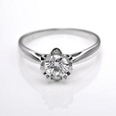 Spesifikasi Tiaria Djxjz005 Perhiasan Emas Cincin Emas Putih 18K Dan Berlian Yg Baik