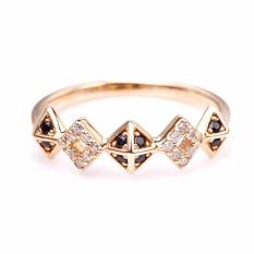 Tiaria DMKMJZ002 Cincin Tunangan Emas dan Berlian Rose Gold