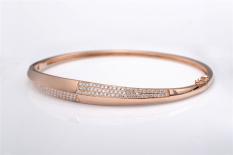 Tiaria DOSMSZ001 Perhiasan emas gelang emas putih 18K berlian