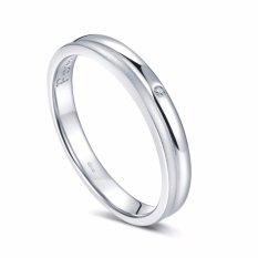 Tiaria Forever Soulmate Wedding Ring Cincin Tunangan Cincin Pernikahan Emas Dan Berlian - White Gold 18k