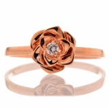 Tiaria Resplendent Rose Ring Cincin Tunangan Emas Berlian Wanita Tiaria Diskon