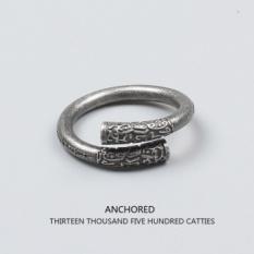 Tide Merek Asli Dinghaishenzhen Monyet Ruyi Jingu Bang Ring Cincin Cincin Cincin Pasangan Cincin untuk Pria dan Wanita (Kuno Silver/8 Yards) -Intl