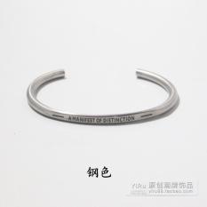 Trendi Gelang Sederhana Baik Gelang Pria Titanium Baja Tiongkok