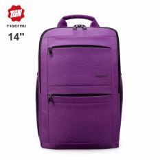 Beli Tigernu Anti Theft Waterproof Sekolah Remaja Perguruan Tinggi Laptop Backpack Untuk 10 1 14 Inches Laptop Gelap Ungu Intl Seken