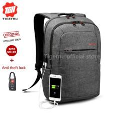 2018 Tigernu Anti Maling Ransel Dengan Port Pengisian Usb Eksternal Travel Backpack Untuk 12 15 Inches Laptop3090 Hitam Gtey Intl Murah