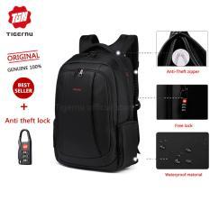 Diskon Tigernu Merek Nylon Waterproof Travel Bisnis Backpack Untuk 12 1 15 6 Inch Laptopt B3143 Hitam Branded