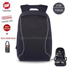 Spesifikasi Tigernu Merek Fashion Kasual Bisnis Anti Pencurian Ransel 35 56 Cm Laptop Bagst B3188 Abu Abu Silver Dan Harga