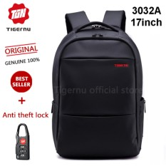 Diskon Tigernu Ukuran L 17 Inci Travel Business Daily Waterproof Backpack Untuk 12 1 17 1 Inch Laptop T B3032A17 Hitam Tigernu