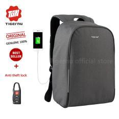 Tigernu Waterproof Anti Pencuri Ransel Laptop Cocok Untuk 12 15 6 Inci E Laptop With Usb Pengisian Port3213 Abu Abu Abu Muda Promo Beli 1 Gratis 1