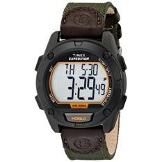 Timex Pria T499479J Ekspedisi Anti Karat Digital Jam Tangan dengan Nilon Tali-Internasional