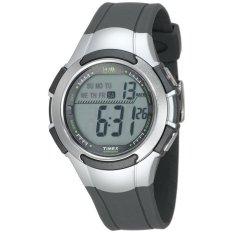 Review Timex Sports Men S T5K238 1440 Digital Sport Silver Abu Abu Resin Timex