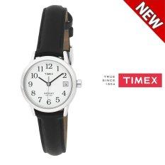 Timex T2H331 Women S Easy Reader Tanggal Strap Kulit Watch Hitam Intl Timex Diskon