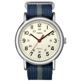 Situs Review Timex Unisex T2N654 Weekender Blue And Gray Slip Thru Nylon Strap