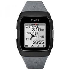 Timex Uniseks TW5M11800 Ironman GPS Hitam/Gray Silikon Jam Tangan-Internasional