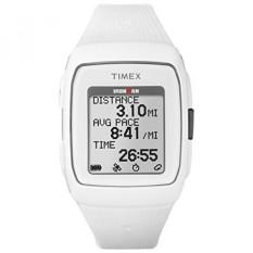 Timex Unisex TW5M11900 Ironman GPS White Silicone Strap Watch-Intl