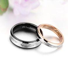 [Bisa Bayar Di Tempat] 2 Cincin + Kotak Cincin Couple / Kawin / Tunangan Titanium Original CC14