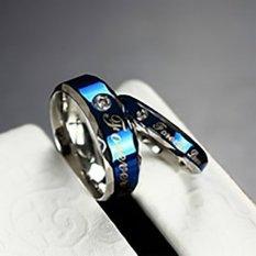 Titanium - [2 Cincin + Box + Ukir] Cincin Couple Titanium CC0