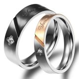 Review Tentang Titanium Cincin Couple Awaken Love Ring Gold Black