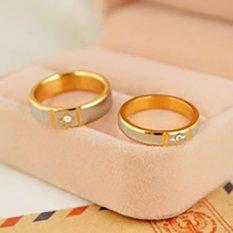 Harga Titanium Cincin Couple Cincin Tunangan Cincin Nikah Baru