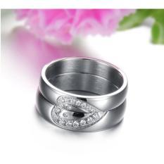 Titanium Cincin Couple - Cincin Tunangan - Cincin Nikah CC059